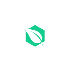 Leaf box plant logo icon line art outline monoline vector