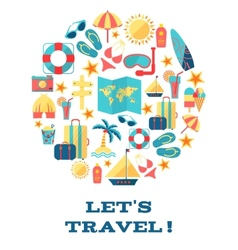Lets travel concept vector image