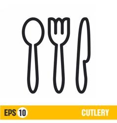 line icon cutlery vector image