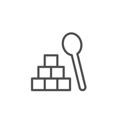 Lump sugar line icon vector