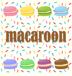 Macaroons in many colors vector