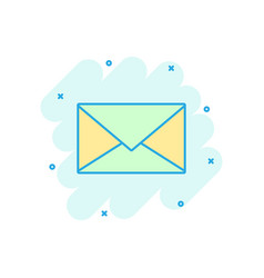 mail envelope icon in comic style email message vector image