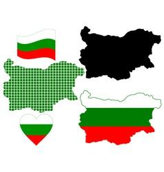 Map bulgaria vector