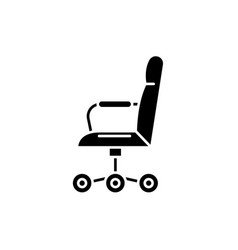 office chair from the side black icon sign vector image