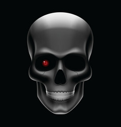 One eyed skull vector