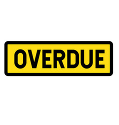 Overdue sign vector