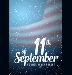 Patriots day poster september 11th paper vector