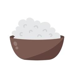 Porridge plate vector