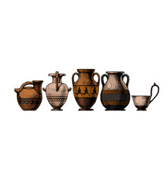 pottery ancient greece vector image