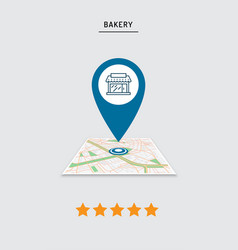 rating of cafe restaurant shop store pin on the vector image
