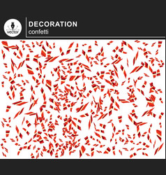 red shiny confetti vector image