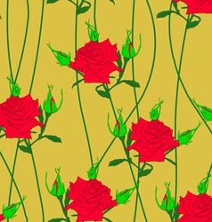 Seamless background with flower roses could be use vector