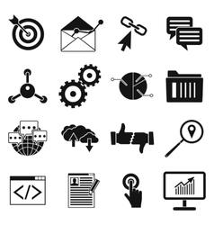 Seo web simple icon vector