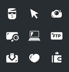 Set of digital photo icons vector