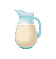 soy milk in a glass jug healthy diet food vegan vector image