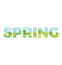 spring in double exposure vector image