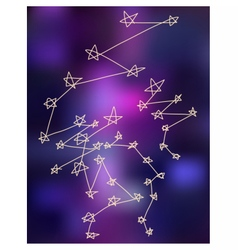 Stars constellations stylize drawing background vector