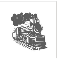 Templates with a locomotive vintage train vector