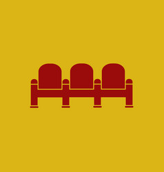 Theatre chairs in flat style vector