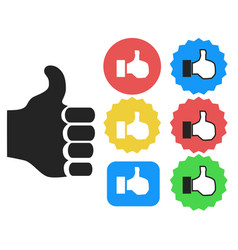 thumbs up icons set vector image