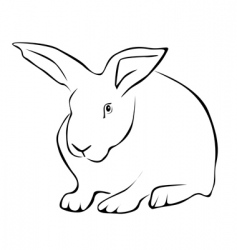 Tracing a white rabbit vector