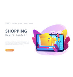 unboxing video concept landing page vector image
