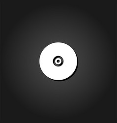 vinyl record icon flat vector image