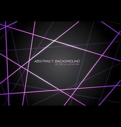 violet line light laser cross overlap on dark grey vector image