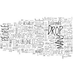 Wholesale drop ship scam revealed text word cloud vector
