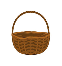 wicker basket on a white background vector image