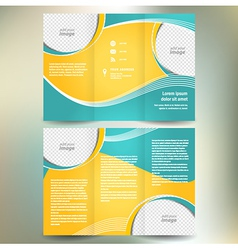 Brochure geometric abstract element color vector