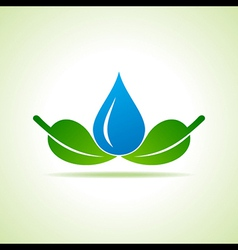 Ecology Concept - save nature vector image