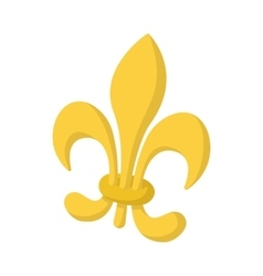 Royal french lily icon cartoon style vector
