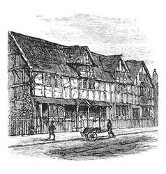 Stratford-upon-Avon engraving vector image