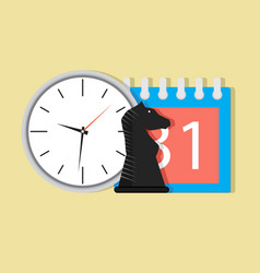 time and tactic orgnization vector image