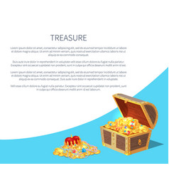 treasure poster text sample vector image