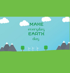 typographic design poster for earth day vector image