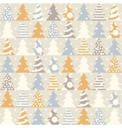 Abstract Christmas seamless pattern vector image vector image