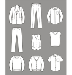 Business clothes vector image