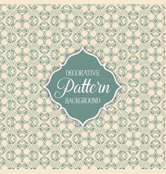 Decorative patterned background vector