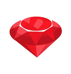 ruby red jewelry vector image