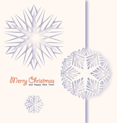 Winter white background vector image