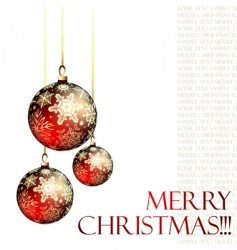 Christmas ornate balls vector image