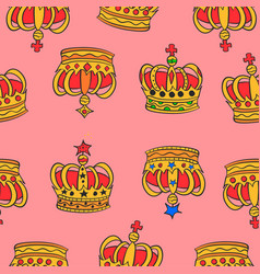 Collection stock of red crown pattern vector