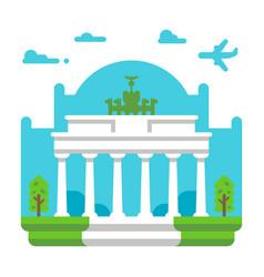flat design brandenburg gate vector image