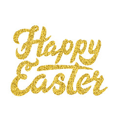 lettering happy easter vector image vector image