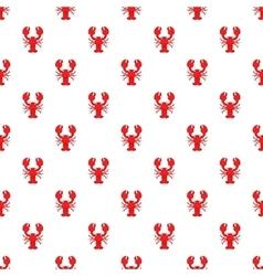Lobster pattern cartoon style vector