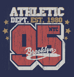 new york t-shirt graphics vector image