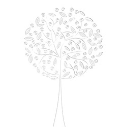 White tree vector image