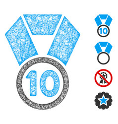 10th place medal web mesh vector